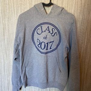 Class of 2017 grey hoodie